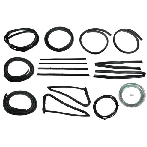 1978-79 Dodge Pickup Complete Weatherstrip Kit for Trucks with either Black or Chrome Windshield Trim