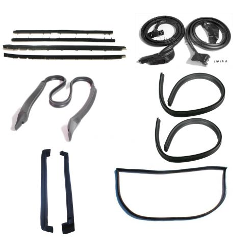 1984-96 Chevy Corvette Coupe Complete 7 Piece Weatherstrip Kit