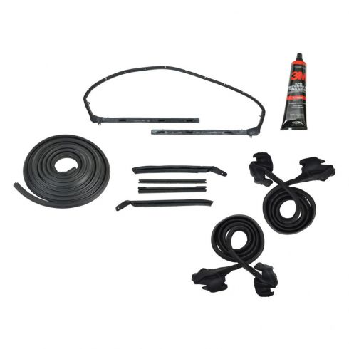 Camaro, Firebird Convertible Weatherstripping Seals Basic Kit With Adhesive
