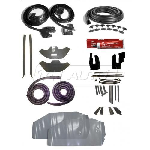 1970-72 Chevy Chevelle HTWeatherstripping Seals Kit Complete
