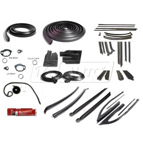 1966-67 Complete Hard Top Weatherstripping Seals Kit