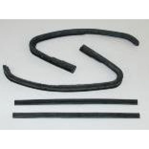 1964-66 GM PU Vent Glass Front & Rear Weatherstrip Seal SET