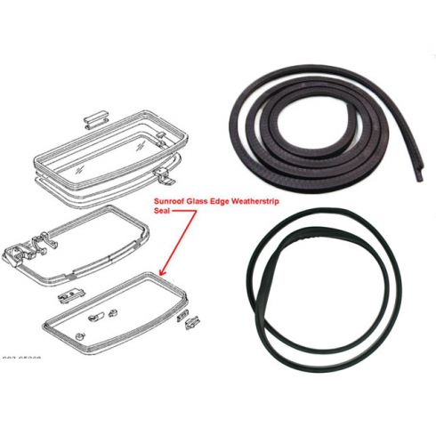 79-93 Ford Mustang Sunroof Glass & Body Seal Kit