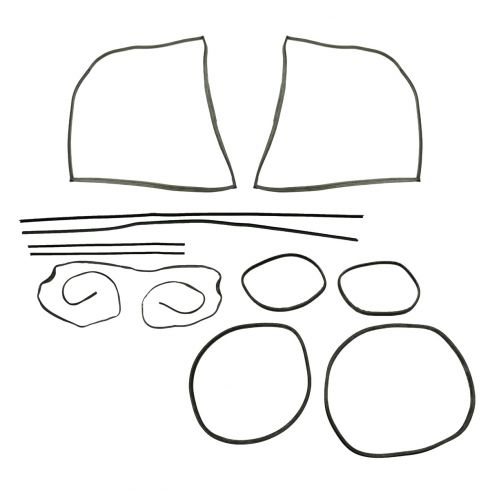 58-64 Volkswagen Beetle Coupe Complete Weatherstrip Kit (11 Piece - w/o Molding Groove)