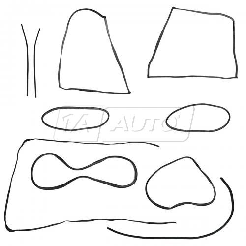 65-66 Volkswagen Beetle Coupe Complete Weatherstrip Kit (11 Piece - w/Molding Groove)