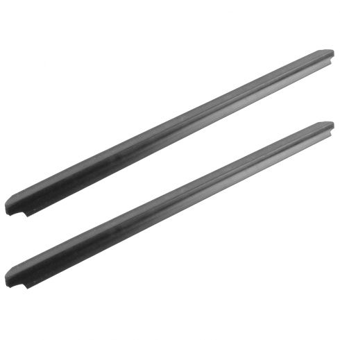 1999-15 Ford F250 F350 Super Duty Crew Cab Rear Door Outer Window Sweep Pair