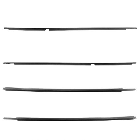 03-09 Toyota 4Runner Front & Rear Door Glass Outer Belt Molding Weatherstrip Seal Kit (Toyota)
