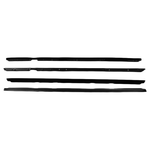 1980-86 Chevy Monte Carlo Pontiac Grand Prix Window Weatherstrip Sweep Deluxe Set