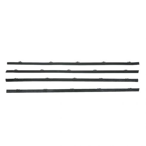 Chevrolet Blazer GMC Jimmy 4pc Window Sweep Weatherstrip Kit WITH All Black Trim