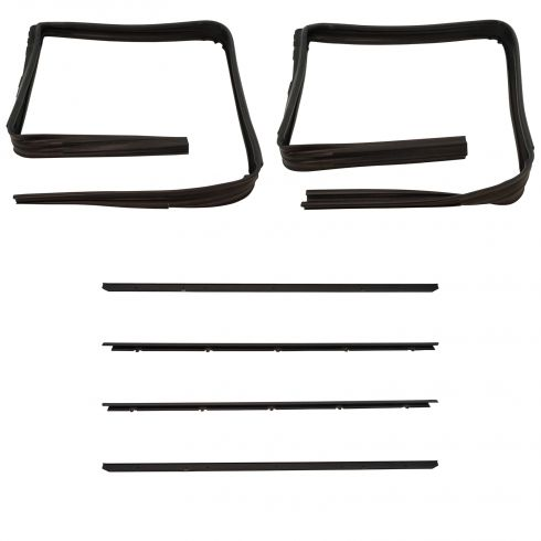 Window Sweep and Run Channel Weatherstrip Kit 6 Piece