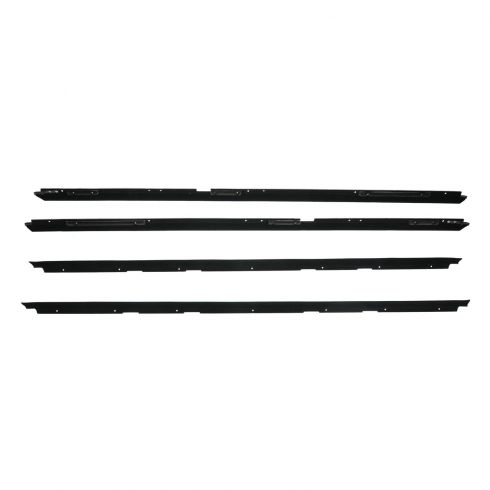 81-88 Chevy Monte Carlo Window Sweep 4 piece Set w/o Reveal Moulding
