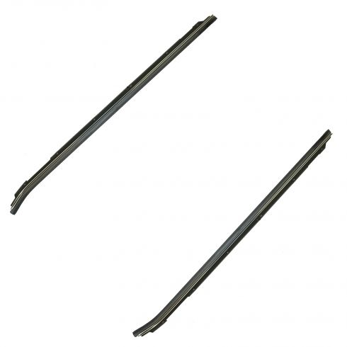 80-90 GM Full Size RWD Frt Door Inner Window Sweep PAIR