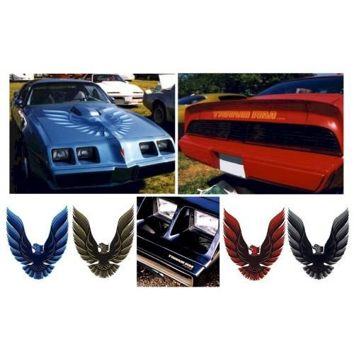 1980 Pontiac Trans Am Decal Kit Red with Gold Highlites