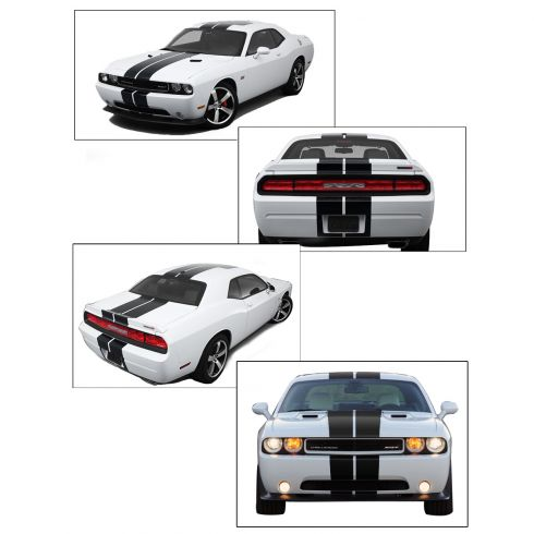 2008-12 Challenger SRT8-392 Hemi Style Over-Roof Stripe Kit (OEM black color)
