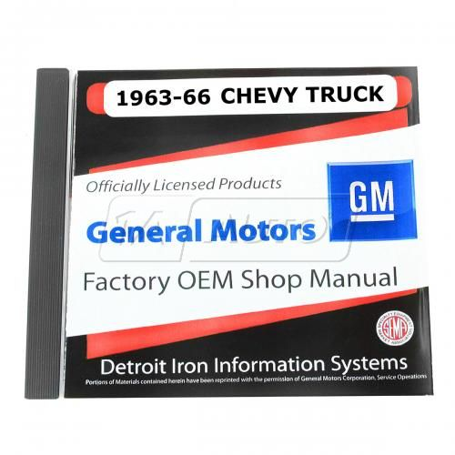63-66 Chevy Light Duty Truck CD-ROM Repair Manual