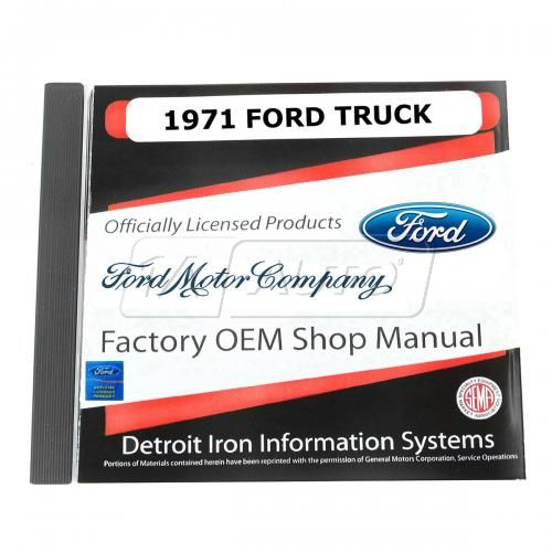 71 Ford Econoline Van, Bronco, Light Duty Truck CD-ROM Repair Manual