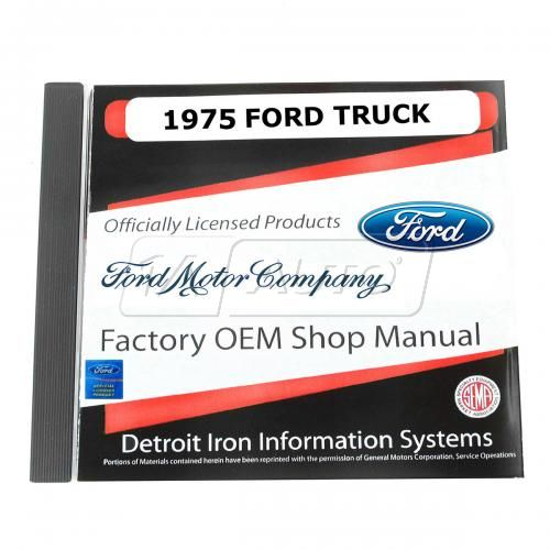 75 Ford Econoline Van, Bronco, Light Duty Truck CD-ROM Repair Manual