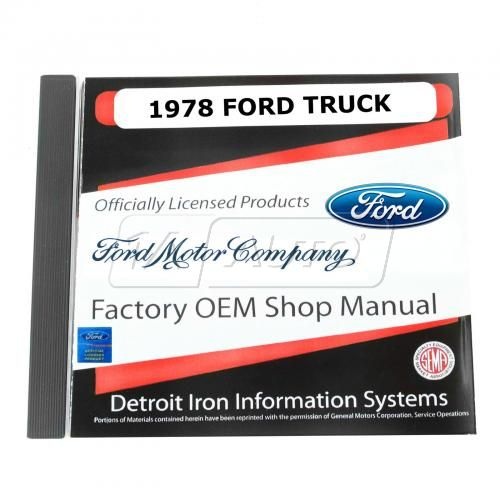 78 Ford Econoline Van, Bronco, Light Duty Truck CD-ROM Repair Manual