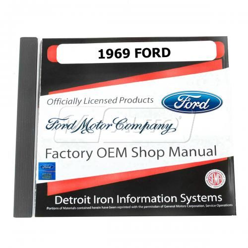 69 Ford Passenger Car CD-ROM Repair Manual