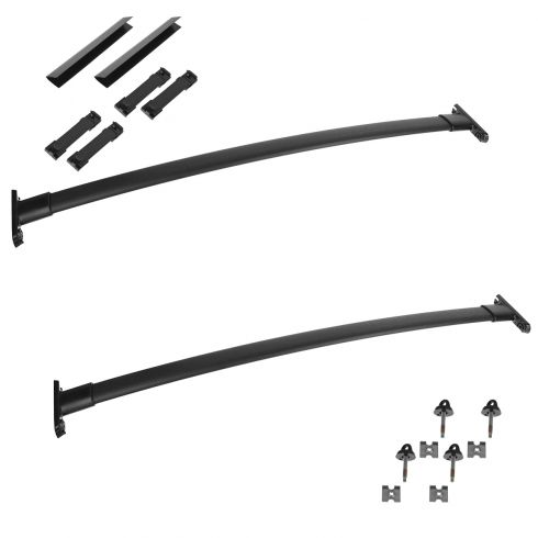 11-15 Ford Explorer Black Roof Rack Cross Bar Set Kit w/Installation Instructions (Ford)