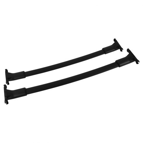 13-15 Ford Escape Roof Rack Black Cross Bar Rail PAIR w/Hardware Kit (Ford)