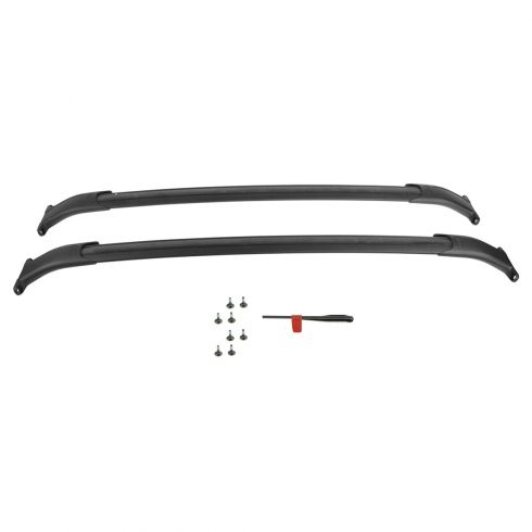 2015 Tahoe, Suburban, Yukon, Yukon XL, Escalade, ESV Black Roof Rail Cross Bars w/Hardware Kit (GM)