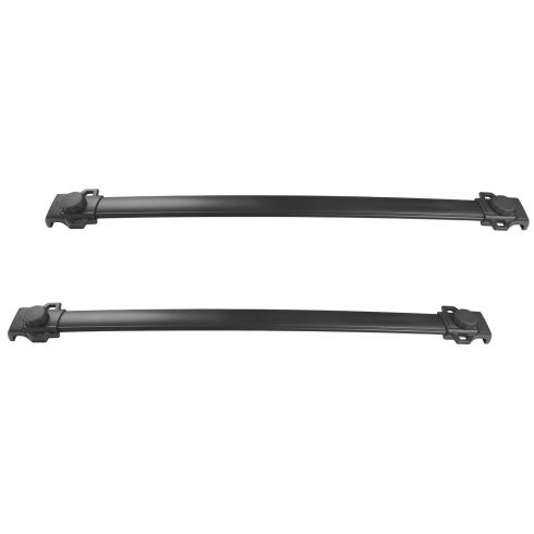 05-10 Jeep Grand Cherokee Roof Rack Mounted Black Cross Bar Rail PAIR (Mopar)