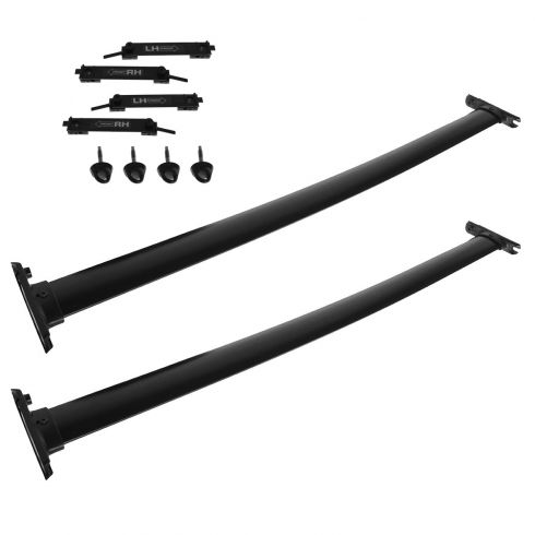 07-13 Mazda CX-9 Black Roof Rack Cross Bar Rail PAIR (MAZDA)