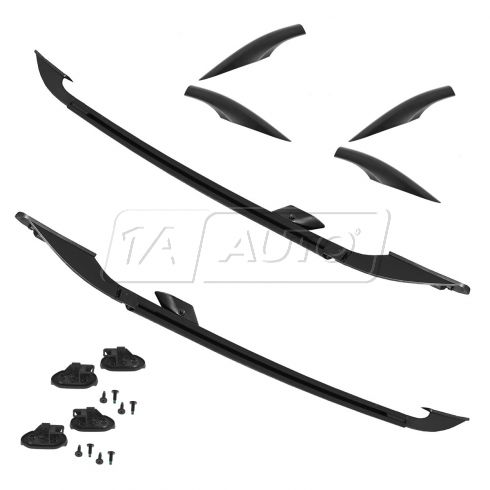 07-14 Mazda CX-9 Black Roof Rack Side Rail PAIR (MAZDA)