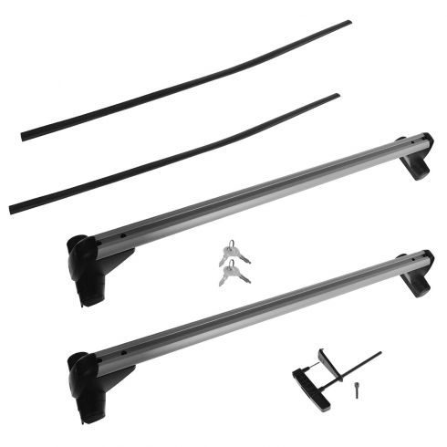 00-05 VW Golf, Jetta Sedan Base Carrier Roof Rack Bars w/Black Inserts (Volkswagen)