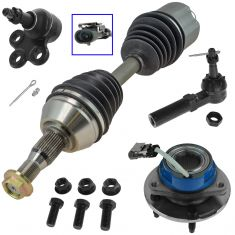 97-99 Centry, Grand Prix; 97 Regal; 97-98 Mini Van Frt Axle, Lwr BJ, Hub & Brg, Outer Tie Rod Kit LF