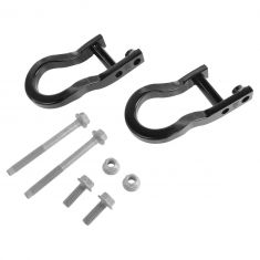 07-15 Silverado, Sierra New Body Front Bumper Mounted Recovery Tow Hook Package PAIR (GM)