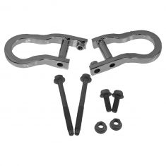 07-16 Silverado, Sierra 1500 New Body Front Bumper Mounted Chrome Tow Hook Package PAIR (GM)