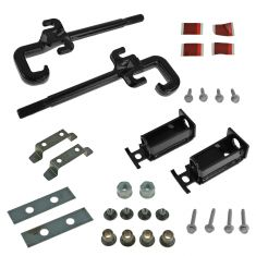 11-15 Jeep Grand Cherokee Front Bumper Mounted Tow Hook Kit PAIR w/Mounting Hardware (Mopar)