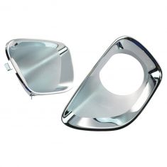 11-13 Jeep Grand Cherokee Front Bumper Mounted Chrome Fog Driving Light Bezel PAIR (Mopar)