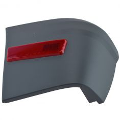 10-13 Ford Transit Connect Torque Gray Rear Bumper End Cap Cover w/Red Reflector LR (Ford)
