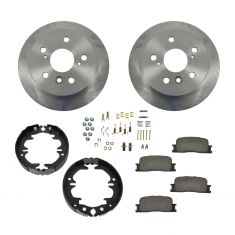 Brake Pad & Rotor Kit Ceramic with Parking Brake Shoes & Hardware
