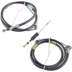 93-98 Toyota Paseo, Tercel Front & Rear Parking Brake Cable (Set of 3)
