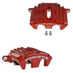 01-04 Chevy Corvette Z06 Torch Red Front Disc Brake Caliper PAIR (AC DELCO)