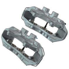 09-14 Cadillac CTS-V Silver Front Disc Brake Caliper PAIR (AC DELCO)