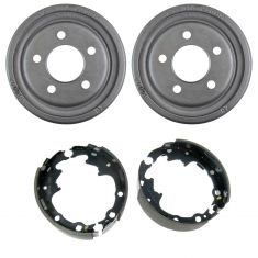 Rear Brake Drum & Bonded Shoe Set (AUTO EXTRA AX800028 & AXS538)