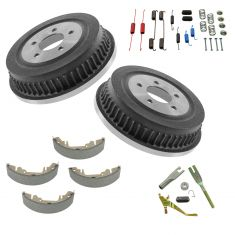 01-07 Chrysler, Dodge, Plymouth Mini Van Rear Drum/Shoe/Hardware Set