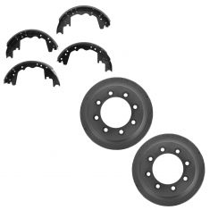 87-91 Ford E250, E350 SRW; 85-99 F250; 84-97 F350 SRW (12 x 3 Inch) Rear Brake Drum & Shoe set