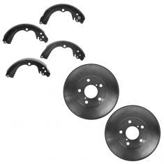 98-08 Subaru Forester L; 93-03 Impreza w/ABS Rear Brake Drum & Shoe Set