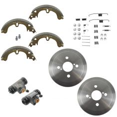 93-02 Prizm; 94-02 Corolla Rear Drum Shoe hardware & Cylinder Kit
