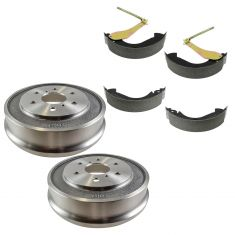 05-08 Silverado, Sierra 1500 (exc Hybrid) Rear Drum & Shoe Set