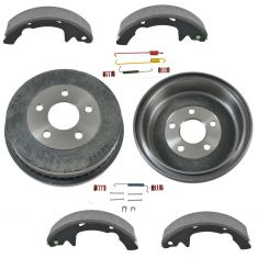 01-05 Mercury Sable; 01-07 Ford Taurus Rear Brake Drum Shoe & Hardware Kit