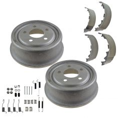 01-06 Jeep Wrangler Rear Drums,Shoes & Hardware Kit Set