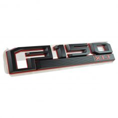 15-16 Ford F150 Red & Black ~F150 XLT~ Logoed Fender Mounted Nameplate Emblem LF (Ford)