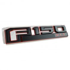 15-16 Ford F150 Red & Black ~F150 XLT~ Logoed Fender Mounted Nameplate Emblem RF (Ford)